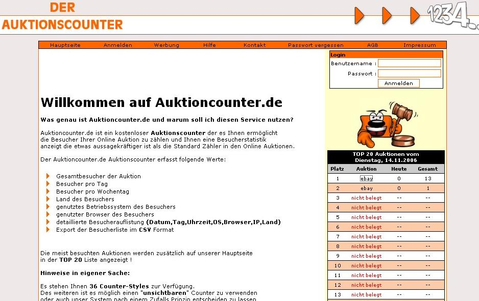 Auktions Counter