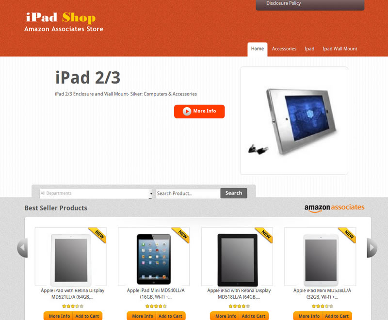 IPad Shop Amazon Affiliate WP